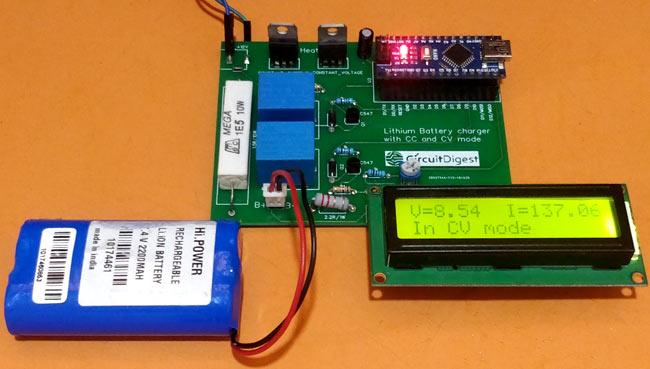 Тестирование работы зарядного устройства в режиме CV