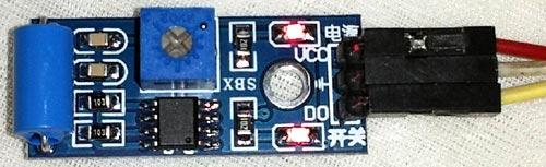 Внешний вид модуля датчика вибрации SW-420