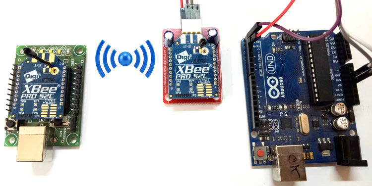 Внешний вид проекта для подключения модуля XBee к плате Arduino Uno