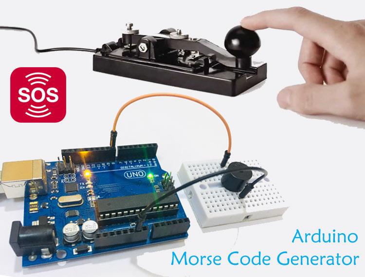 Внешний вид генератора кода Морзе на основе платы Arduino Uno