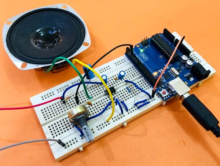 Внешний вид преобразователя текста в речь на основе платы Arduino Uno