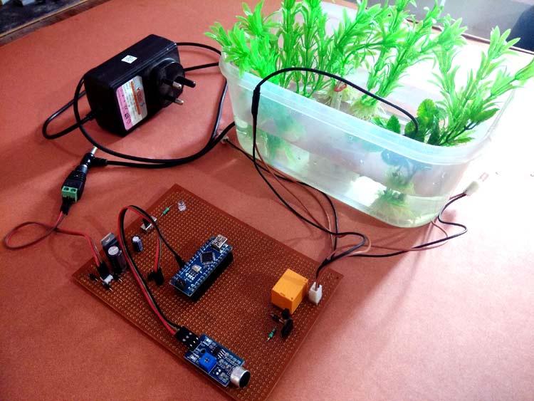 Внешний вид музыкального фонтана на основе Arduino и акустического датчика