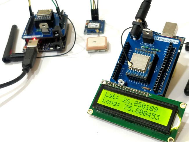 Тестирование работы нашего GPS трекера