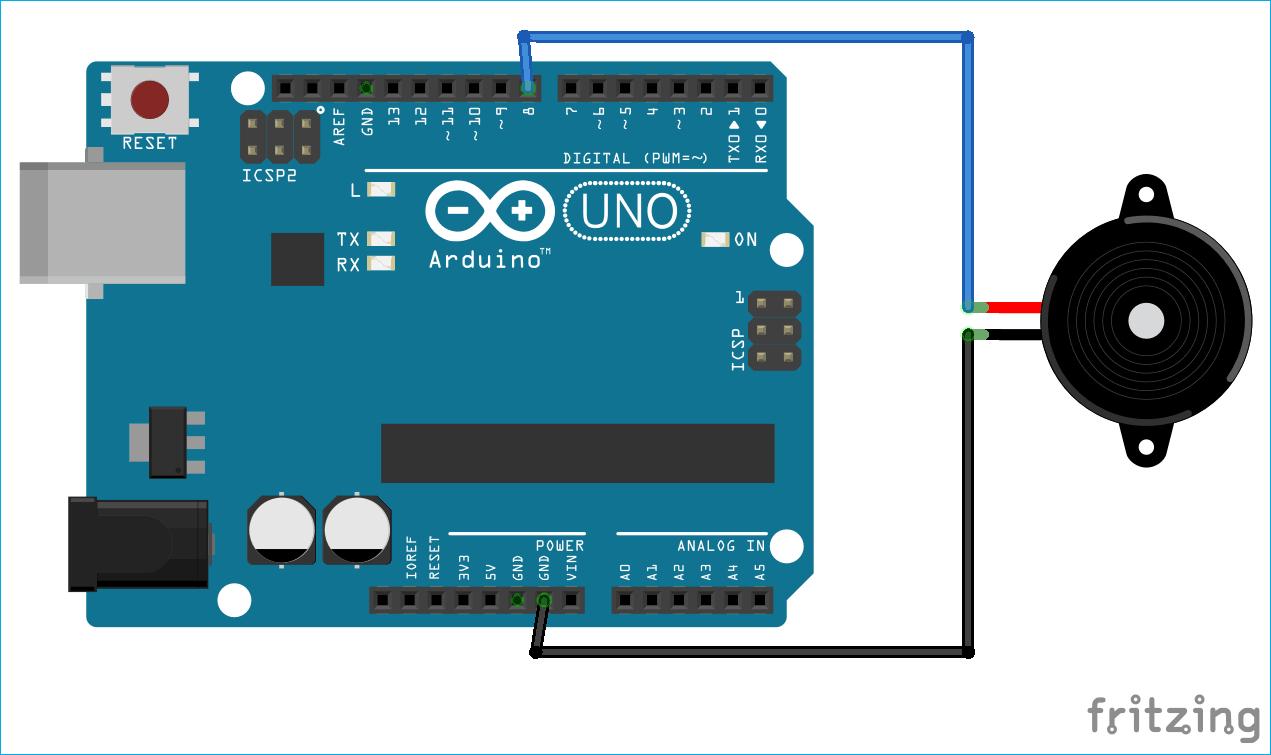 Схема генератора кода Морзе на основе платы Arduino Uno