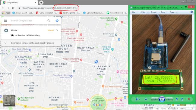 Просмотр местоположения нашего устройства на Google картах