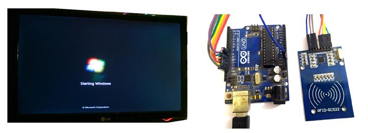 Внешний вид проекта по входу в Windows с помощью Arduino и радиочастотной идентификации (RFID)