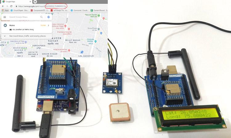 Внешний вид GPS трекера на основе платы Arduino и технологии Lora