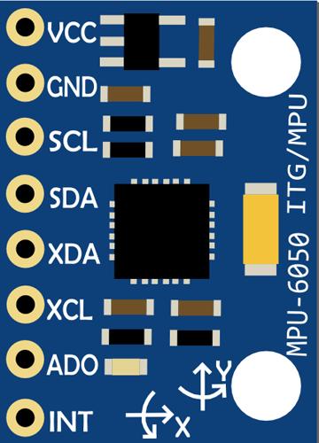 Назначение контактов (распиновка) датчика MPU6050