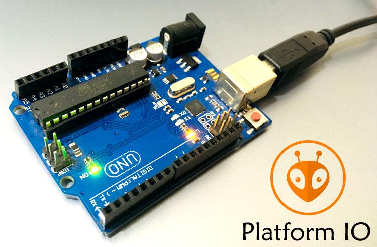 Внешний вид проекта для программирования Arduino Uno и STM32 с помощью PlatformIO