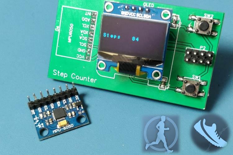 Внешний вид счетчика шагов (шагомера) на ATtiny85 и акселерометре MPU6050
