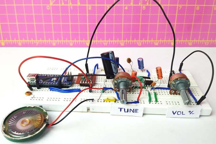 Внешний вид FM приёмника на основе Arduino и модуля RDA5807