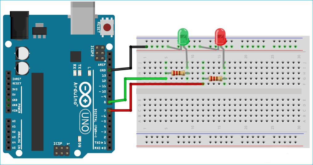 Схема проекта создания задачи мигания светодиодом с помощью FreeRTOS в плате Arduino