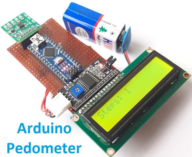 Внешний вид счетчика шагов (шагомера) на основе Arduino и акселерометре