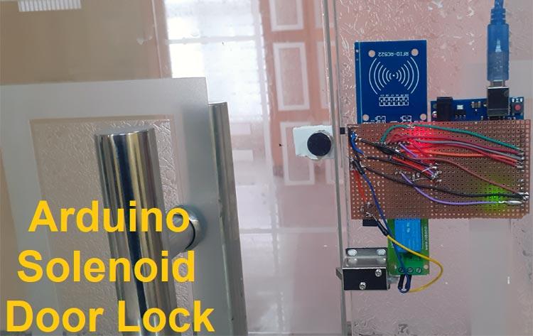 Внешний вид замка с электромагнитным управлением на основе Arduino и RFID
