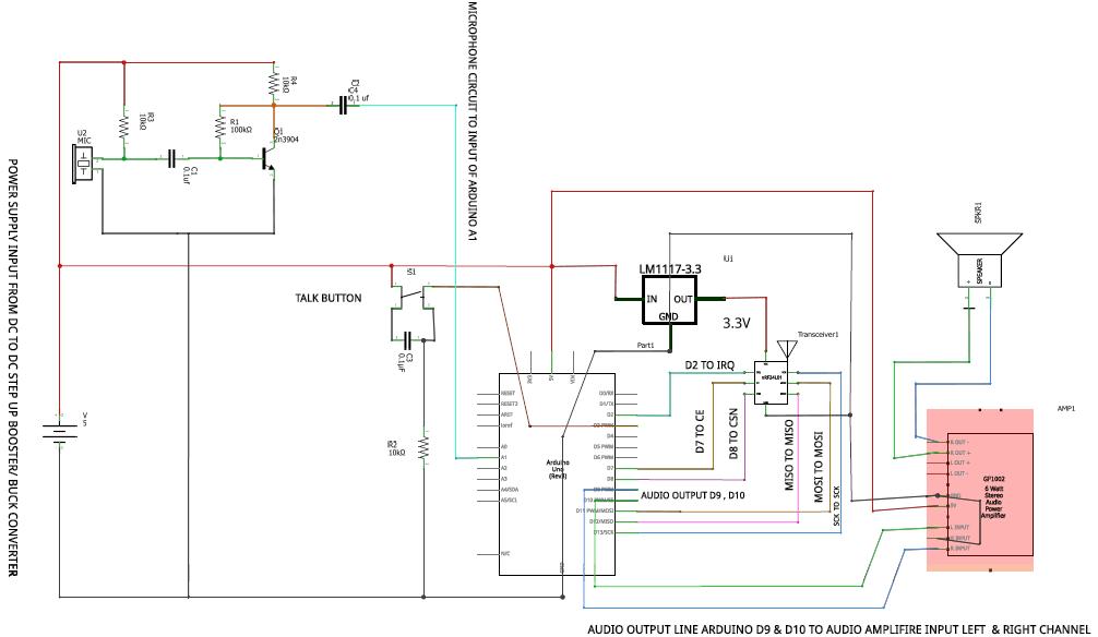 Схема нашего проекта радиостанции в другом виде