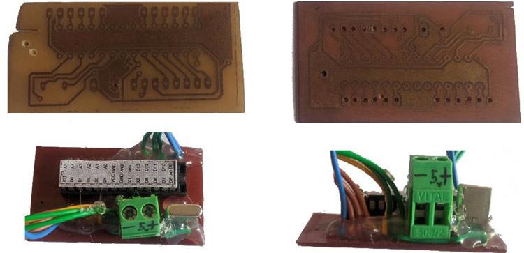 Размещение микросхемы Atmega328p на самодельной печатной плате