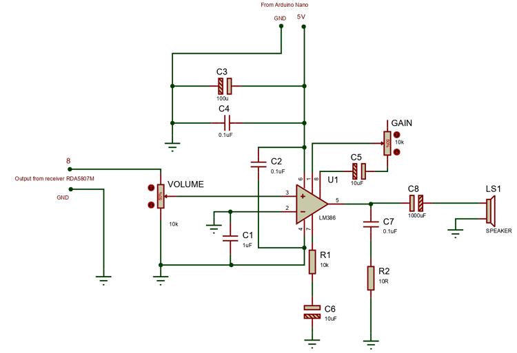 Усилитель звуковой частоты на основе микросхемы LM386