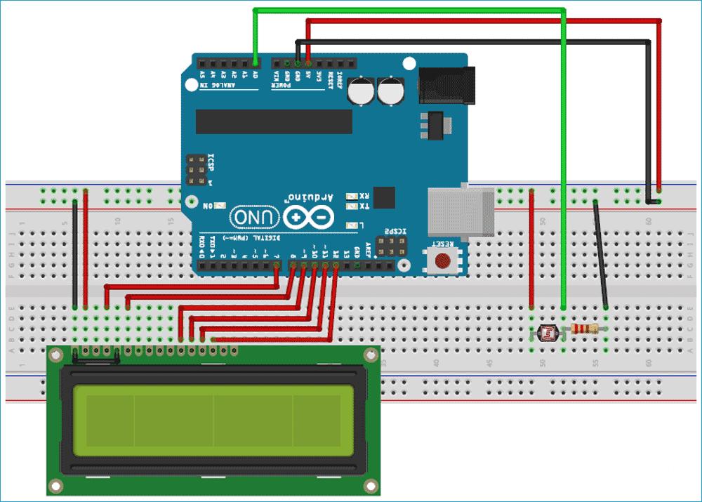Схема проекта для демонстрации возможности использования очередей в FreeRTOS в Arduino