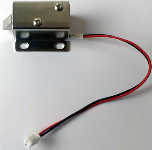 Внешний вид замка с электромагнитным управлением (solenoid lock)