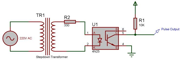 Схема детектора перехода через ноль