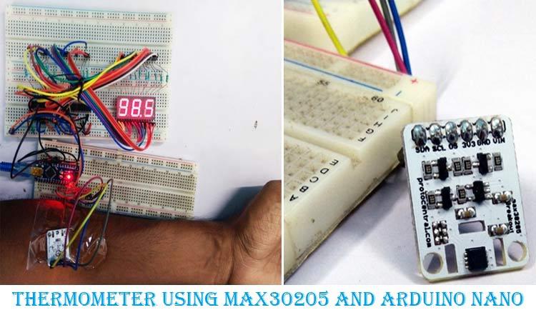 Внешний вид термометра на Arduino и датчике температуры MAX30205