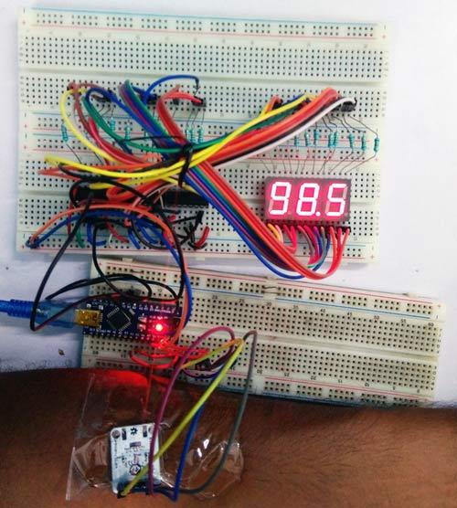 Тестирование работы нашего термометра