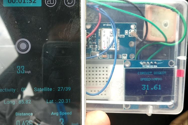 Тестирование работы GPS спидометра
