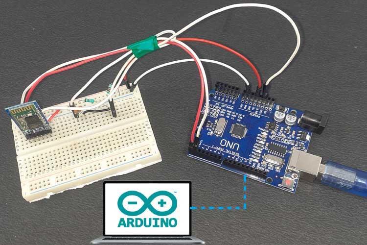 Внешний вид беспроводного программирования платы Arduino Uno по Bluetooth