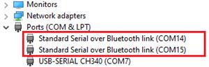 Определение COM порта компьютера, к которому подключен Bluetooth модуль HC05