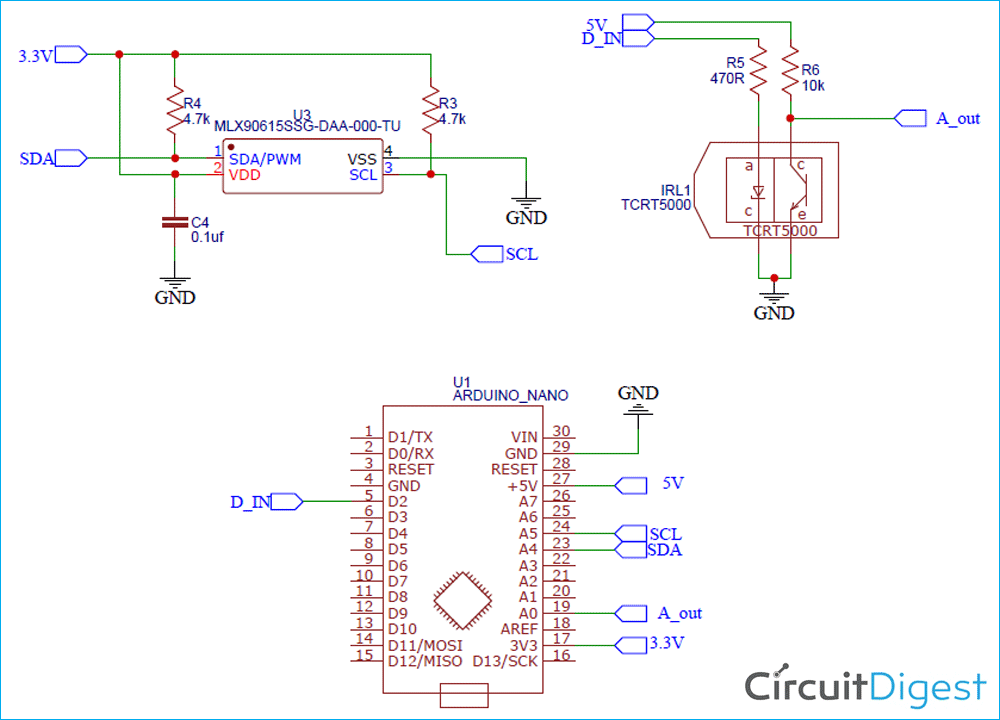 Схема бесконтактного термометра на основе платы Arduino и смартфона