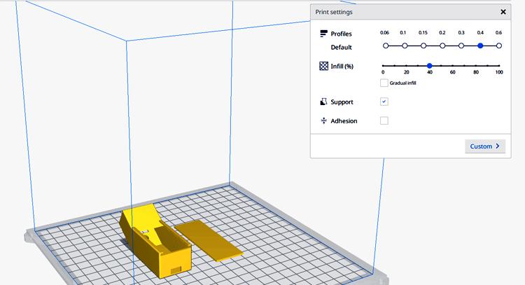 CAD модель корпуса термометра