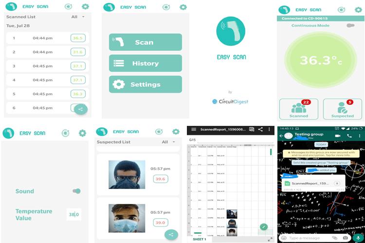 Скриншоты работы приложения Easy Scan