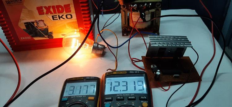Потребление энергии на входе инвертора