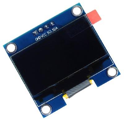 """Внешний вид OLED дисплея SH1106 1.28"""" с 4-мя контактами"""