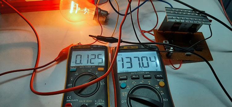 Потребление энергии на выходе инвертора