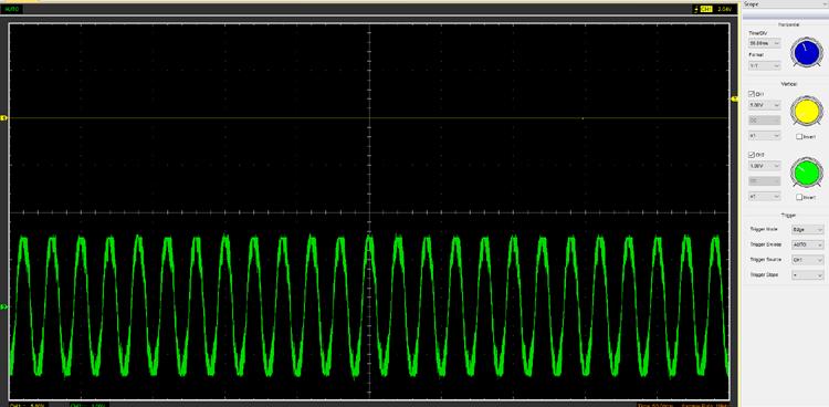 Сигнал на выходе трансформатора