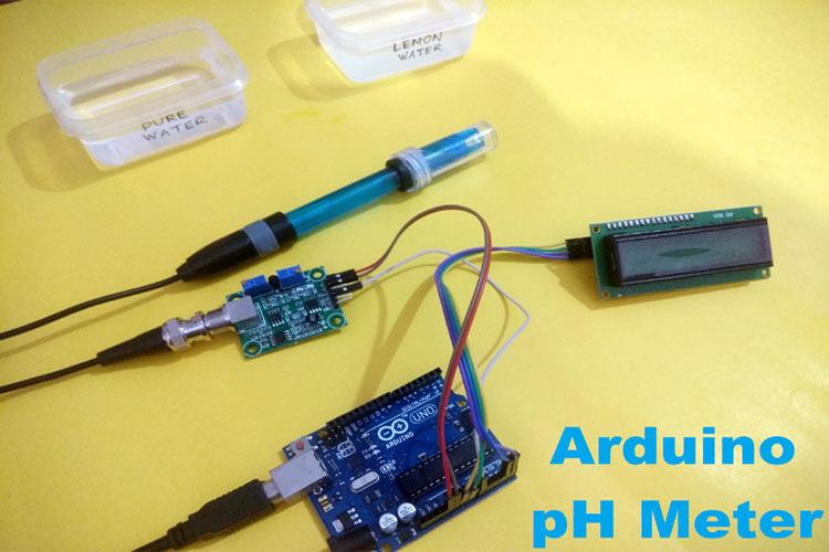 Внешний вид pH-метр на основе Arduino Uno и ЖК дисплея
