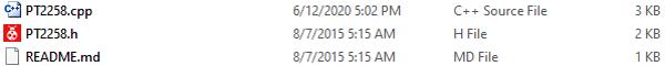 Файлы библиотеки PT2258