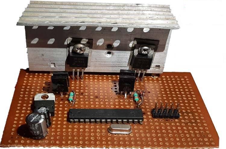 Внешний вид чистого синусоидального инвертора на Arduino