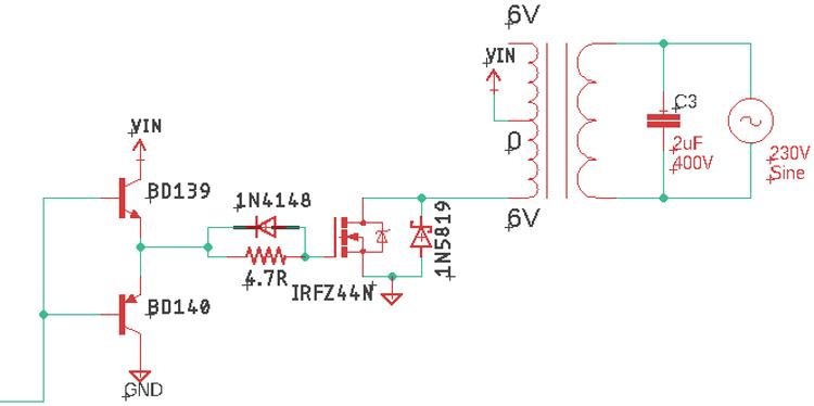 Протекание тока в обратном направлении в инверторе