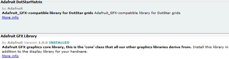 Установка библиотеки Adafruit GFX