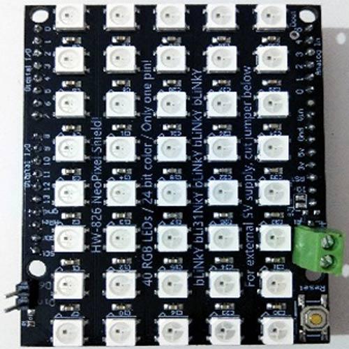 Внешний вид установленного шилда на плату Arduino