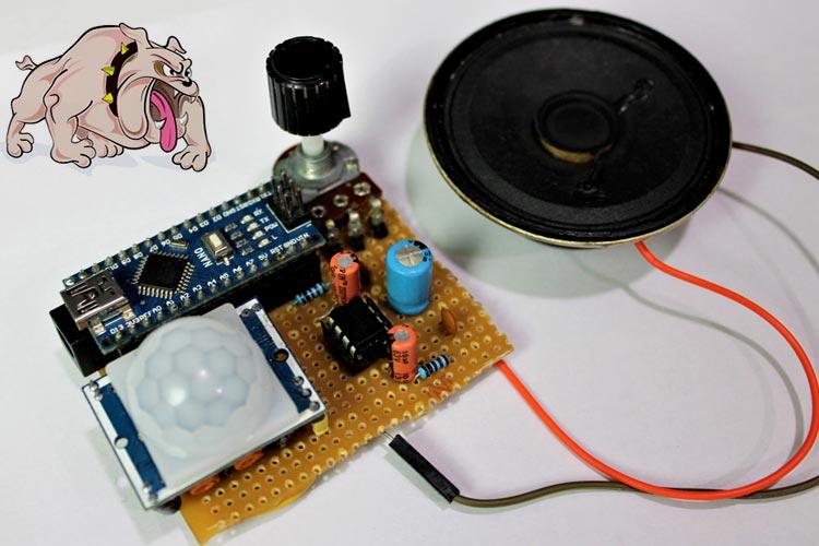 Внешний вид сигнализации с лаем собаки на Arduino и PIR датчике