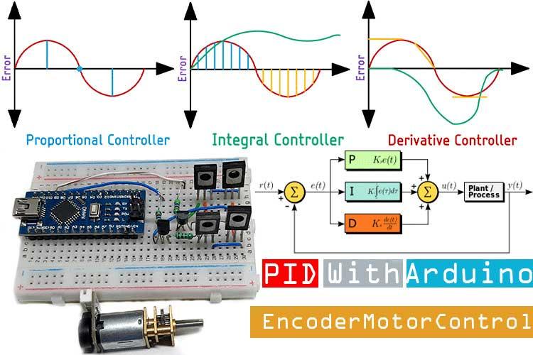 Внешний вид проекта энкодера для двигателя на Arduino и PID контроллере