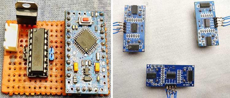 Конструкция электронной части робота