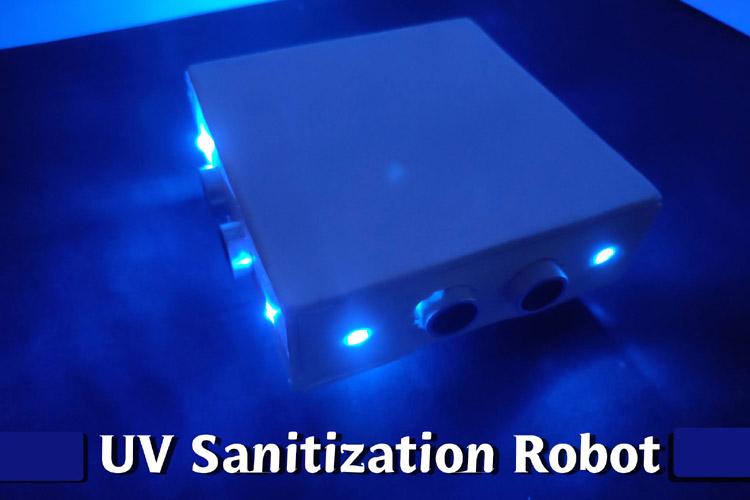 Внешний вид робота на Arduino для автоматической дезинфекции помещений с помощью ультрафиолетовых лучей
