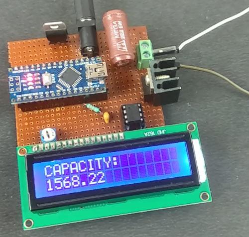 Отображение измеренной емкости аккумулятора