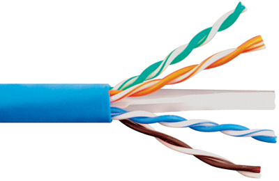 Внутренняя структура Ethernet кабеля категории CAT-6E