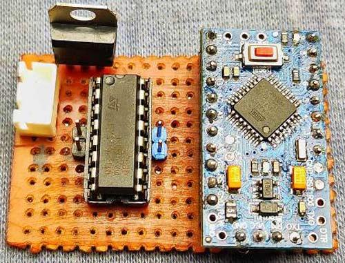Внешний вид конструкции электронной части робота