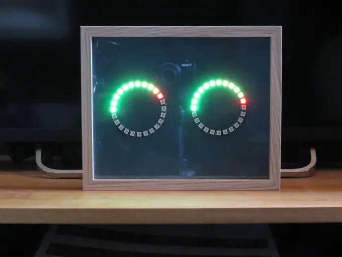Внешний вид собранной конструкции измерителя уровня звука (вид спереди)
